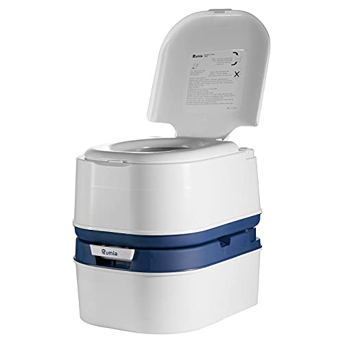 Portable Toilet Rumia, Camping Toilet for Car Boat, T-shaped Three-way Flushing, Double-sealed Drain Valve, Portable Toilet for Camping with 6.3...