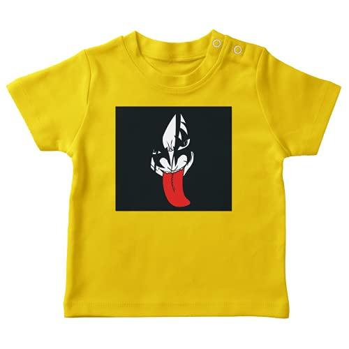 OKIWOKI Naruto Lustiges Gelb Baby T-Shirt - Orochimaru X Kiss (Naruto Parodie signiert Hochwertiges T-shirt in Größe 24 monate - Ref : 367)
