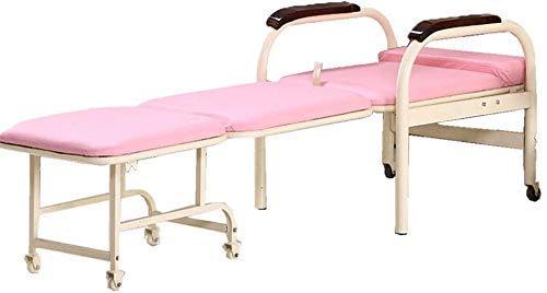 GUOSHUCHE Letto pieghevole Lit pieghevole chaise de futon pliante roues sommeil unico invité maison chambre salon bureau intérieur meubles de bureau à domicile (colore: blu, t