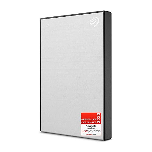 Seagate One Touch, tragbare externe Festplatte 1 TB, PC, Notebook & Mac, USB 3.0, Silber, inkl. 2 Jahre Rescue Service, Modellnr.: STKB1000401