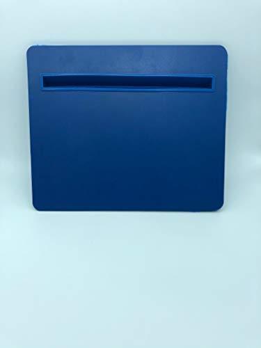 Spoclin - Escritorio de Trabajo Mesa Acolchada para Regazo y piernas para Tablet y Ordenador portátil 31x26x4cm (Azul)