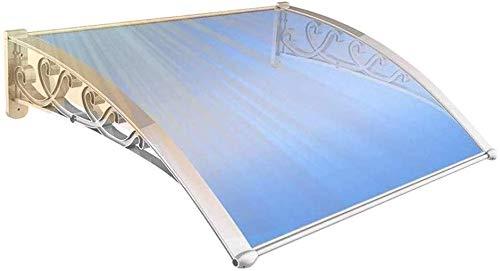 WQL Vordach Überdachung Pultvordach Haustürvordach Durchgehend Transparent Pultbogenvordach-60cmx60cm Blue Sheet