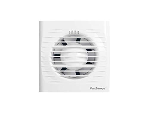 Ventilador extractor de baño aire 100 mm Silencioso con válvula Anti retorno + mosquitera integrada,97 m3/h,Ideal para baño,cocina,inodoro,oficina,silencioso,alta calidad,bajo consumo Garantía 5 AÑOS