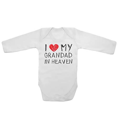 Body à manches longues unisexe avec inscription « I Love My Grandad in Heaven »