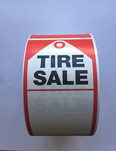 Tire Supply 500 Count of Tire Sale Stickers