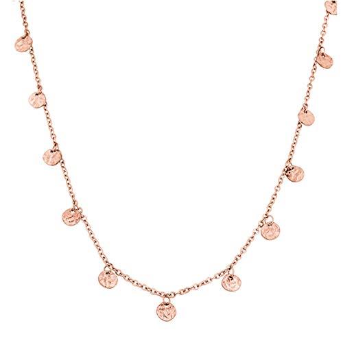 PURELEI ® Malihini Halskette (Gold, Rosegold & Silber) Mit Anhänger (40 cm Länge) (Rosegold)