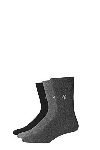 Marc O'Polo Body & Beach Herren M (3-Pack) Socken, Schwarz (Schwarz 000), 43/46 (Herstellergröße: 406) (3er Pack)