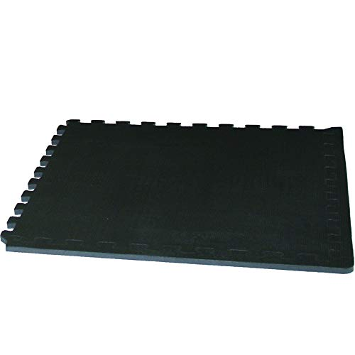 Tunturi-Fitness 14Tuscl269 Pack de 4 Alfombrillas Protectoras, Unisex Adulto, Negro, 60 x 60 cm
