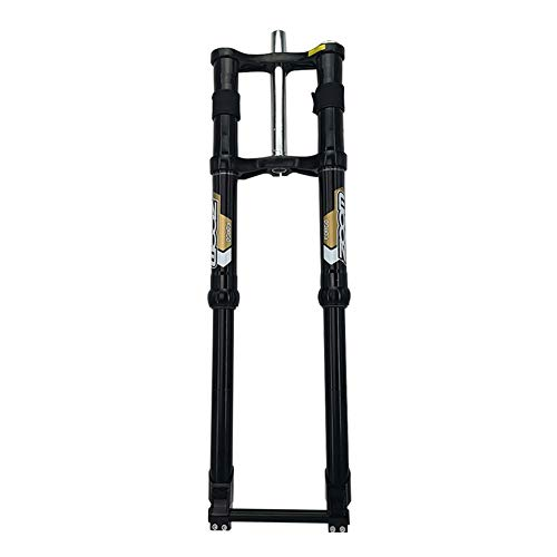 CHICTI Horquilla De Suspensión, Bicicleta Doble Hombro Presión del Aceite Tenedor Frontal, 1200DH Freno De Disco Amortiguador Tenedor Repuestos