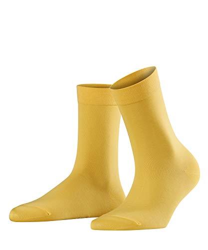 FALKE Damen Socken Cotton Touch, Baumwollmischung, 1 Paar, Gelb (Mustard 1187), Größe: 39-42