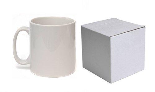 36 taza blanca de la sublimación 11OZ recubierta orca con cajas de la taza: Amazon.es: Electrónica