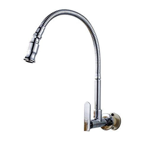 Inchant Kitchen Sink Faucet 1-Handle Fredda Acqua di Rubinetto 1-Hole Montaggio a Parete Finitura cromata
