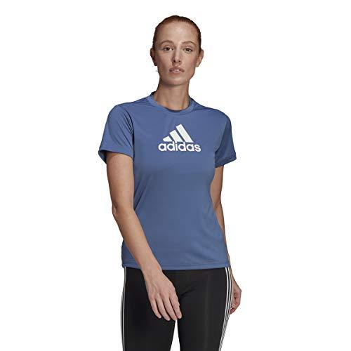 adidas GL3825 W BL T T-Shirt Womens Crew Blue/White XL