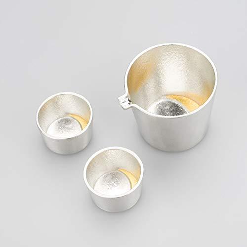 【能作 和紙でラッピング】 月の酒器 金箔セット 本錫100% NOUSAKU