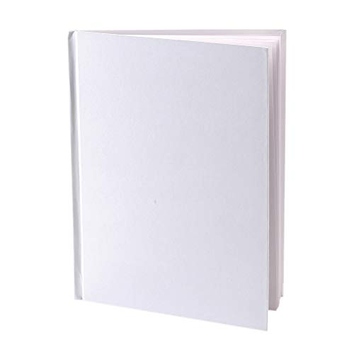 Ashley Productions ASH10700 Hardcover Blank Book,  6' Wide, 8' Length, White