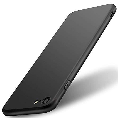 Ntjsmc iPhone6 ケース iPhone6S ケース 超薄型ブラックカバー 擦り傷防止 全面保護 耐衝撃 スマホTPUシリコンカバー(ブラック)
