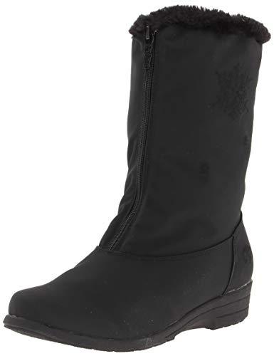 totes Women's Staride Mid-Calf Boot, Black, 7 W US