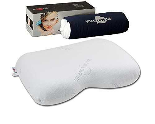 Universal Orthopedic and Ergonomic Neck Support Memory Foam Pillow US LLC. (Silver)
