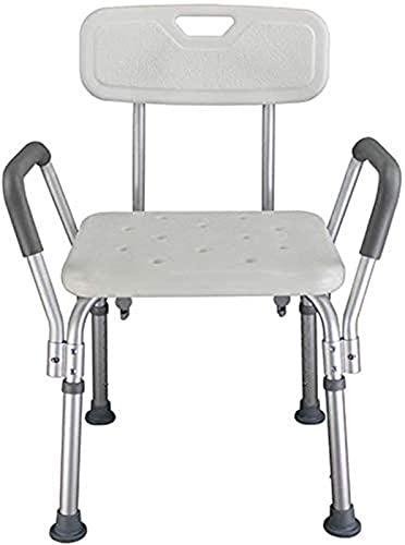 Dusch- und Badestuhl, Duschstuhl Duschsitz Anti-Rutsch-verstellbare Badstühle mit Rückenlehne und Griffe, Senioren und Behinderte Duschhilfe Bänke, Badewanne-Hebeback-Duschhocker (Farbe: blau) ,Perfek