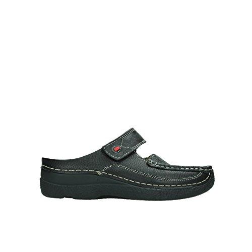 Wolky Comfort Roll Slipper - 70000 schwarz gedruckt Leder - 38