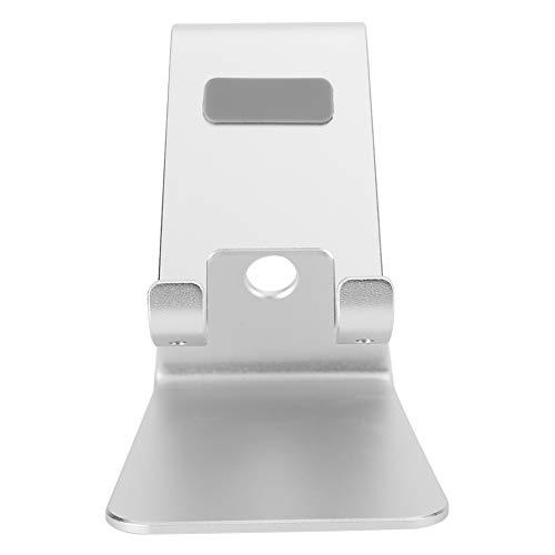 Suporte para telefone móvel/computador tablet Suporte para telefone de mesa com ângulo de visão confortável, suporte para telefone móvel, para smartphones de 3,5 a 6 polegadas,(Silver)