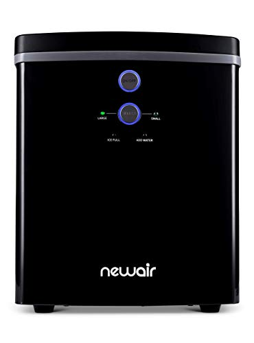 NewAir Portable Maker 33 lb 2 Ice Size Bullets Daily, Perfect Machine for Countertops, NIM033BK00, Black (Renewed)