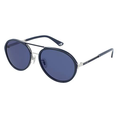 Police Gafas de sol Record 2 SPLA57 579B 57-18-145 Unisex paladio brillante total lentes azul espejo azul