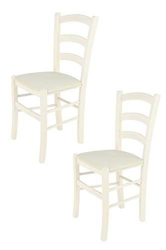 Tommychairs - Set 2 sedie modello Venice per cucina bar e sala da pranzo, robusta struttura in legno...