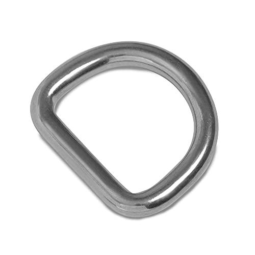 D-Ringe 30mm x 5mm geschweißt Edelstahl AISI 316 (V4A) [10 Stück] HEAVYTOOL®