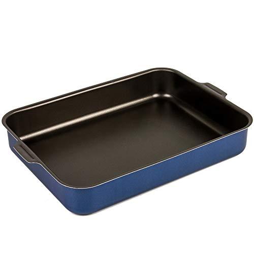 Aluminum NonStick Rectangular Roasting Dish Lasagna Pan Deep Dish OvenBBQ Bakeware 75x98#039#039 19x25 cm
