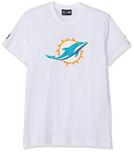 New Era Herren Miami Dolphins T-Shirt, Weiß, M