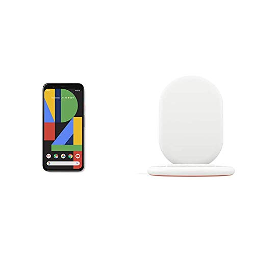 Google Pixel 4 XL, Clearly White, 64GB Unlocked Cell Phone Bundled with Google Pixel Stand Fast Wireless Charger