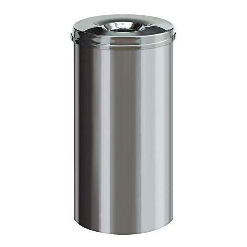V-Part Poubelle ronde en acier inoxydable 50 litres
