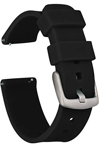 GadgetWraps 20mm Gizmo Watch Silicone Watch Band Strap with Quick Release Pins – Compatible with Gizmo Watch, Samsung, Pebble – 20mm Quick Release Watch Band (Black, 20mm)