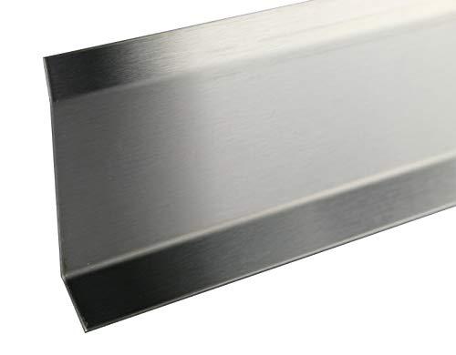 2,5 METER – Höhe: 80 mm FUCHS Sockelleiste Edelstahl V2A Gebürstet