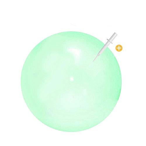 Sunshine smile Bubble Ball Spielzeug,Wasserball Bubble,Bubble Ball Wassergefüllter Interaktiver,Bubble Ball Reißfest,Weichgummiball,Bubble Balloon,Bubble Ball Aufblasbar für Sommer Strand (Grün)