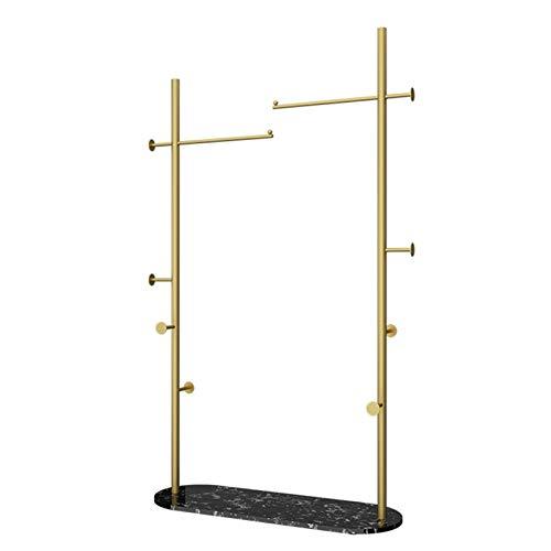 YAN FEI Perchero vintage con base de mármol, zapatero, marco de metal para entrada de dormitorio o entrada, resistente, color dorado y negro, tamaño: 60 cm
