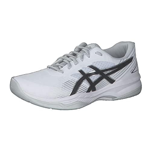 Asics Men's Gel-Game 8 Tennis Shoe, Blanc Noir, 9 UK