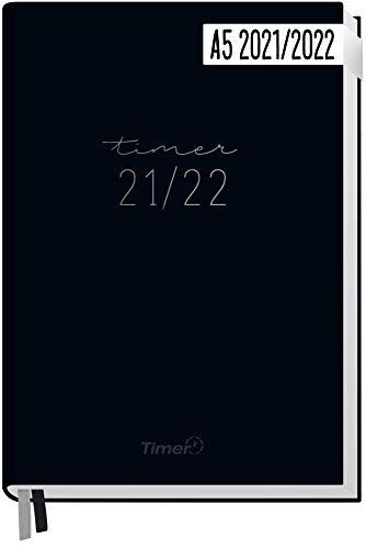 Chäff-Timer Classic A5 Kalender 2021/2022 [Schwarz] Terminplaner, Terminkalender 18 Monate: Juli 2021 bis Dez. 2022 | Wochenkalender, Organizer mit Wochenplaner | nachhaltig & klimaneutral