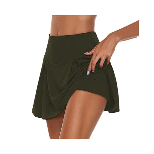 Gimnasio Mujeres Correr Pantalones Cortos Falda Cintura Alta Nuevos Pantalones Cortos Malla Doble Capa