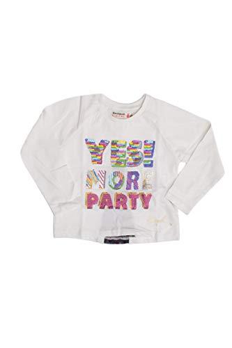 Desigual T-Shirt Manga Larga bebé-niñas Small Blanco