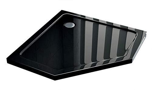 50 mm douchebak vijfhoek 100 x 100 (Fünfeck) cm zwart
