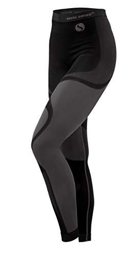 Sesto Senso® Donna Intimo Termico Pantaloni Lunghi Funzionale Sottopantaloni Leggings Biancheria Intima Termoattivo (L, Grigio)