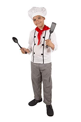 Costumizate! Disfraz de Cocinero Talla 10-12 Especial para niños Fiestas de Disfraces o Carnaval