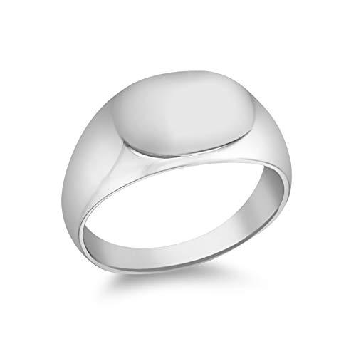 Tuscany Silver Unisex Siegelringe 925 Sterlingsilber Silber