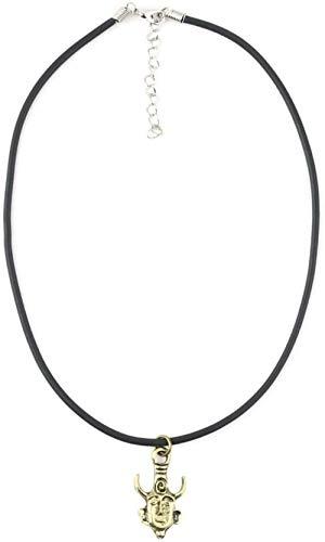 LKLFC Collar para Mujer Hombre Colgante Sobrenatural Amuleto Inspirado en protección Collar Broche de Langosta Broche - Bronce Colgante Collar niñas niños Regalo
