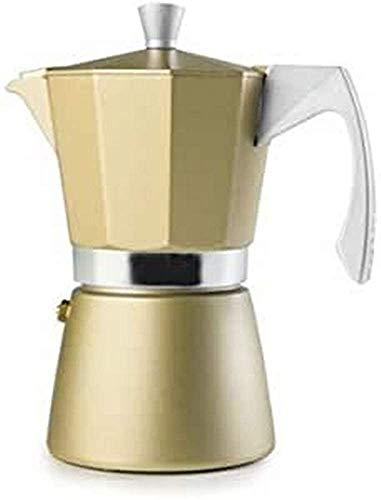 IBILI 623903 Evva Golden 3 Espressokocher, Aluminium, Beige, 13 x 10 x 16 cm
