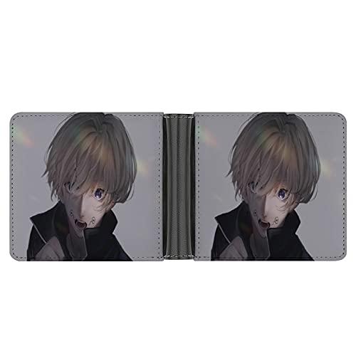 Jujutsu Kaisen Anime Boy Cartera de piel sintética tipo embrague, puede acomodar tarjetas de crédito, dinero en efectivo, etc. DIY monedero personalizado, caja de tarjeta de crédito de moda