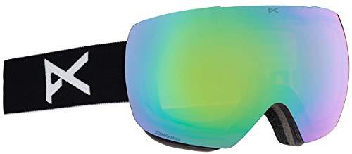 Anon Herren MIG MFI Snowboardbrille, Black/Sonar Green