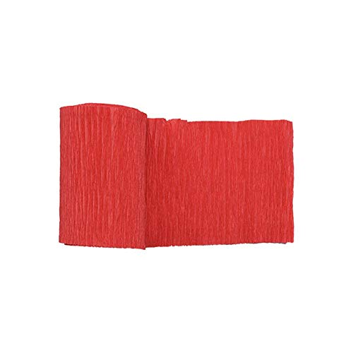 250 * 10 cm origami crêpepapier diy ambachtelijke gerimpelde papierrol voor bruiloft decoratie bloem verpakking geschenken verpakkingsmateriaal 7, f06 rood